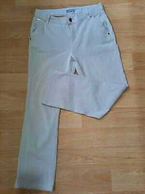 £5.30 • Buy M&S Straight Leg Striped Pants Trousers Size 12 Summer Holiday