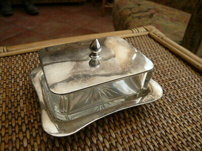 £14.99 • Buy Superb Quality Antique Victorian Silver Plated Glass Table Butter Preserve Dish
