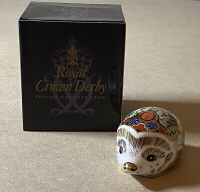 £20 • Buy Royal Crown Derby Paperweight Gold Stopper 'Bramble Hedgehog' With Box