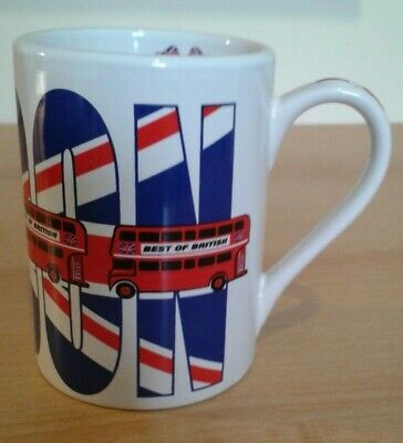 £1.95 • Buy Best Of British, Novelty 'LONDON' Mug, Red Busses & Flags, In VGC.