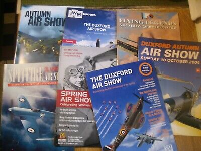 £4.99 • Buy 7 Assorted Duxford Airshow Programmes Flying Legends, Spitfires, Sally B Etc.