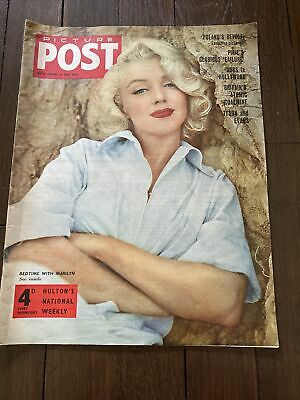 £30 • Buy Picture Post Marilyn Monroe 14th July 1956