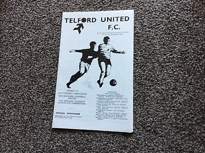 £1.50 • Buy Telford United V Chelmsford City Southern League 1969