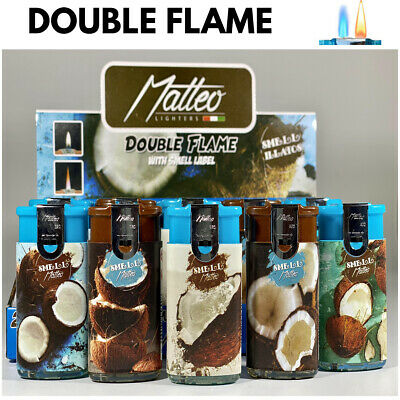 £6.89 • Buy 3 X COCONUT DOUBLE FLAME CIGAR WINDPROOF JET FLAME ELECTRONIC LIGHTER Refillable