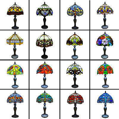 £63 • Buy Tiffany Table Lamp Handcrafted Art Style Bedside Light Desk Lamps Stained Glass