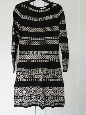 £2 • Buy Monsoon Black And Beige Knitted Dress/long Top Size Small