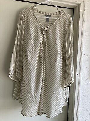 £10.61 • Buy Catherines Plus Size Striped Peasant Top~2X~22/24W