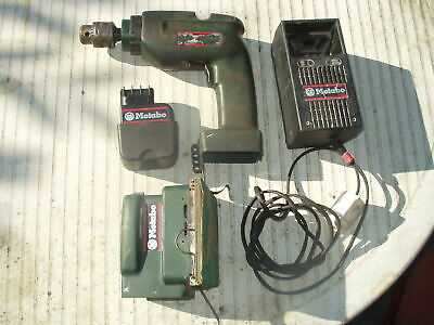 £9.50 • Buy Metabo 9.6v Battery Drill/Percussion, Charger, Palm Sander, Battery Re-celled