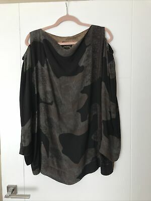 £75 • Buy Vivienne Westwood Anglomania Oversized Loose Cold Shoulder Tunic Dress M 12/14