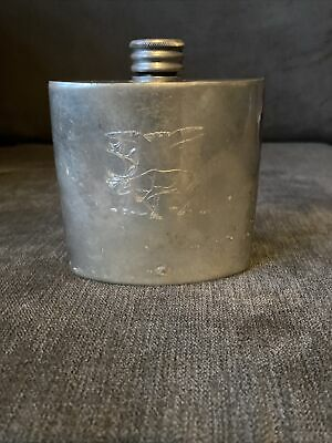 £4.99 • Buy English Pewter Sheffield Hip Flask Silver
