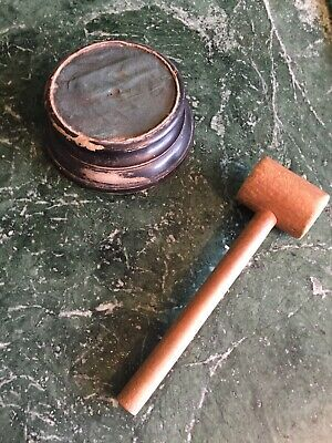 £12 • Buy Auction Gavel And Block Antique Callers Tool