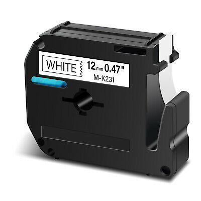 $2.99 • Buy Compatible For Brother P-touch Label M-K231 MK231 Black/White Tape 26.2Ft 1/2
