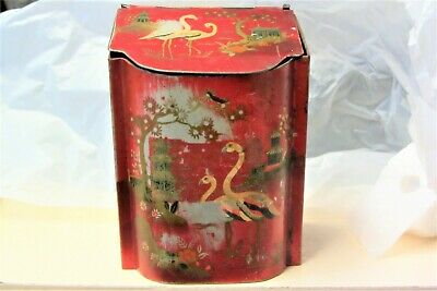 £29.99 • Buy Antique Chinese/japanese Themed Tea Tin/caddy Beautiful Piece