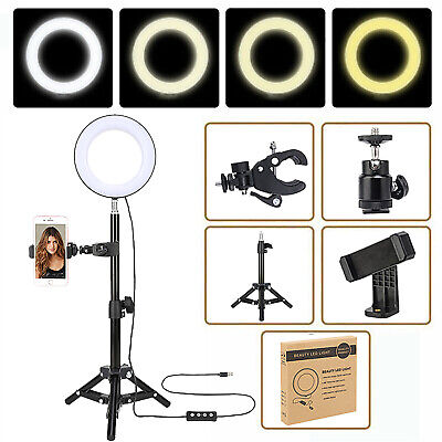 AU5.50 • Buy Studio LED Ring Light Dimmable Lamp YouTube Video Make-up Selfie Camera Phone