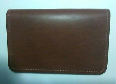 $20.97 • Buy Genuine Leather Top Stub Checkbook Cover - Made In The USA - Saddle Tan