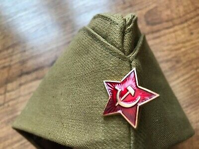 £12 • Buy Russian Military 'Pilotka' Hat With Badge, Dated Inside As 1969