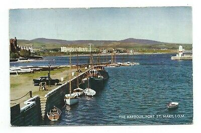 £4.95 • Buy Isle Of Man Port St Mary Harbour Salmon Series Cameracolour Postcard C.1960's