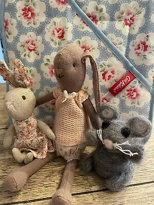 £42 • Buy Limited Edition Maileg Bunny, Ditsy Dress Bunny And Felt Mouse