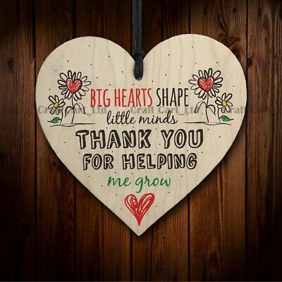 £2.99 • Buy Wooden Plaque Heart Mom Dad Teacher Friend Family Gift Idea Present Thank You