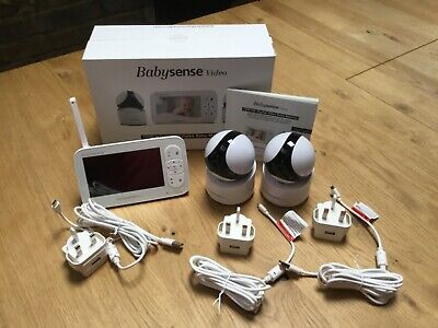 """View Details 5"""" HD Baby Monitor, Babysense Video Baby Monitor With 2 Cameras • 99.00£"""
