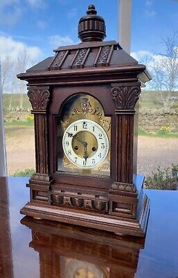 £395 • Buy Large Impressive Victorian Mantle Clock By Waterbury Helsby Chiming 8 Day.