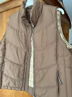£25 • Buy Jack Murphy Down Gilet 20 Immaculate Brown/Pink Piping