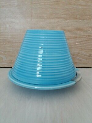 £12 • Buy Yankee Candle Small Blue Plate And Shade Holder Set Gift Accessory
