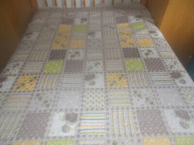 £19.99 • Buy Patchwork Quilt Style King Size Throw-bevelled Edge**free Carriage**