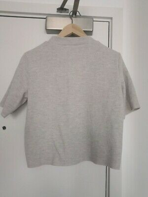 AU1.83 • Buy Pull And Bear Oatmeal Knit Top Size L