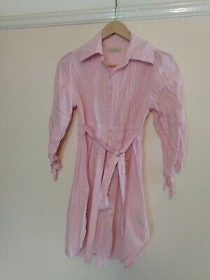 £8.99 • Buy Ted Baker Pink Shirt Dress With Tie Belt. Size 8 (1). Spare Button