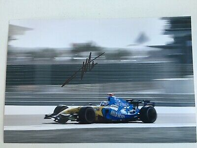 £45 • Buy Fernando Alonso Signed Renault F1 A4 Photo