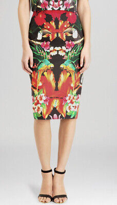 £59.95 • Buy Ted Baker Tropical Toucan Pencil Skirt Size 1 (10)
