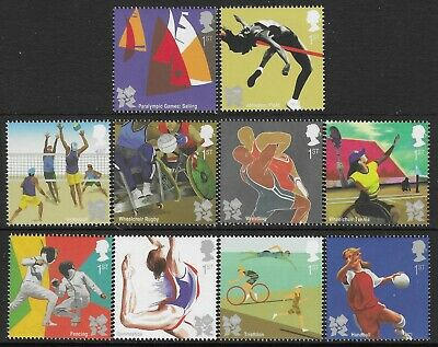 £7.90 • Buy GB. 2011. OLYMPIC & PARALYMPICS 2012. 1 SET OF 10 STAMPS. MNH. FV £8.50p.