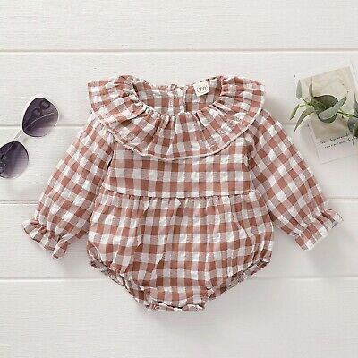 £9.99 • Buy Baby Girl Vintage Style Occasion Wear Romper Colour Rust 0-3 Months