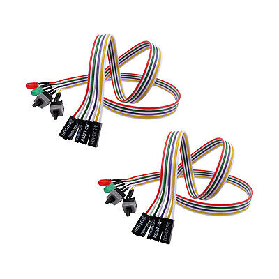 £3.39 • Buy Computer Host Switch Line ATX Power Supply Reset Cable Motherboard Restart