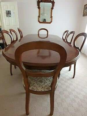 AU600 • Buy Antique Mahogany Dining Table With 8 Chairs