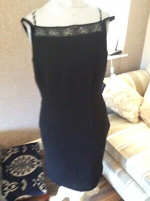 £2.99 • Buy Principles Fully Lined Unworn Strappy Black Dress With Bead Detail Size 12