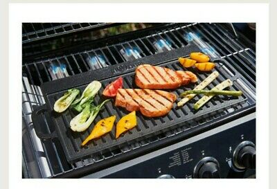 £27.98 • Buy Cast Iron Griddle Tray Reversible Plate Large Grill Pan Tray BBQ Hob, Open Fire