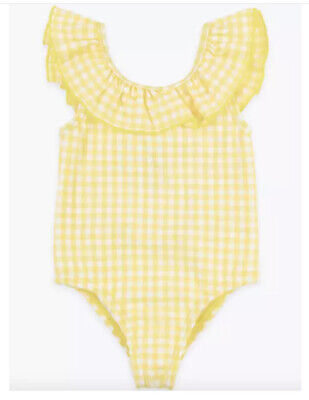 £3.24 • Buy Ex-M&S Baby GIRL SWIMMING BATHING SUIT ONE PIECE  0-3 Months Yellow Gingham