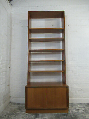 £225 • Buy Mid Century 1970s G Plan Form Five 5 Teak Wall Unit With Cupboard And Shelves