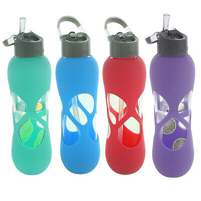 £11.99 • Buy Glass Water Gym Yoga Drink Drinking Bottle Hot Cold Carry No Leak Spill BPA Free
