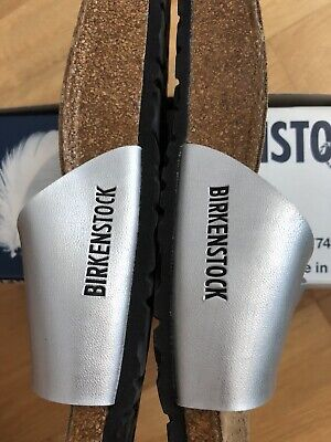 £22.50 • Buy Ladies Birkenstock Madrid Sandals Silver Size 7 (40) Excellent Used Condition