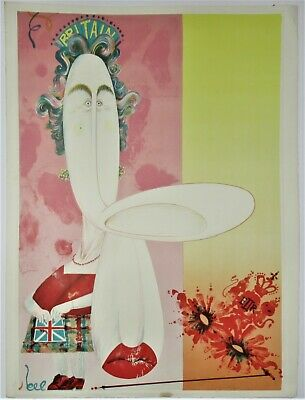 £395 • Buy Gerald Scarfe, Large Signed Print, The Queen, 1970, Lithograph, Unframed, Scarce