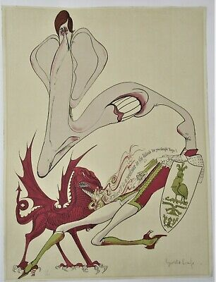 £395 • Buy Gerald Scarfe, Large Signed Print, Investiture Souvenir (Pince Charles) 1969