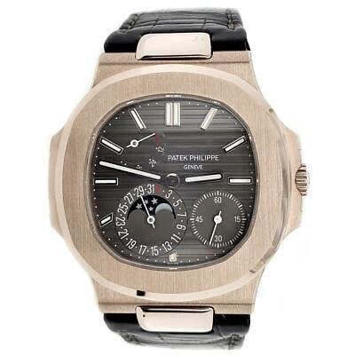 £54888.63 • Buy Patek Philippe Nautilus Moohphase 40mm Grey Dial White Gold Watch Box Papers