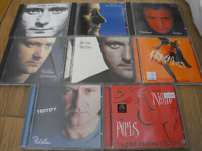£9.99 • Buy Phil Collins CD Job Lot / Collection X 8 Face Value Seriously Both Sides Hello