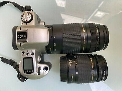 £95 • Buy Canon EOS 500n 35mm Film Camera, Canon EF 75-300 And 28-80 Zoom Lenses Included