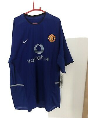 £25 • Buy Manchester United Adult XXL Third Football Shirt 2002 - 2003 Nike 3rd With Tags.