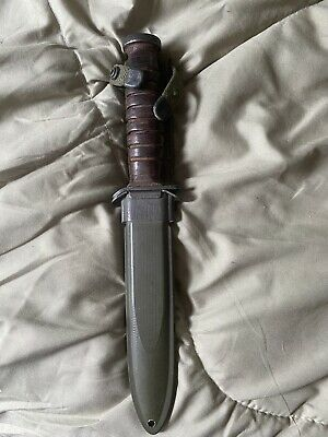 $400 • Buy WW2 M3 Fighting Knife With Early M8 Scabbard..Utica Blade Marked