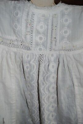 £8.99 • Buy Vintage Retro Child/baby  White Smock/pinafore/over Dress With Lace